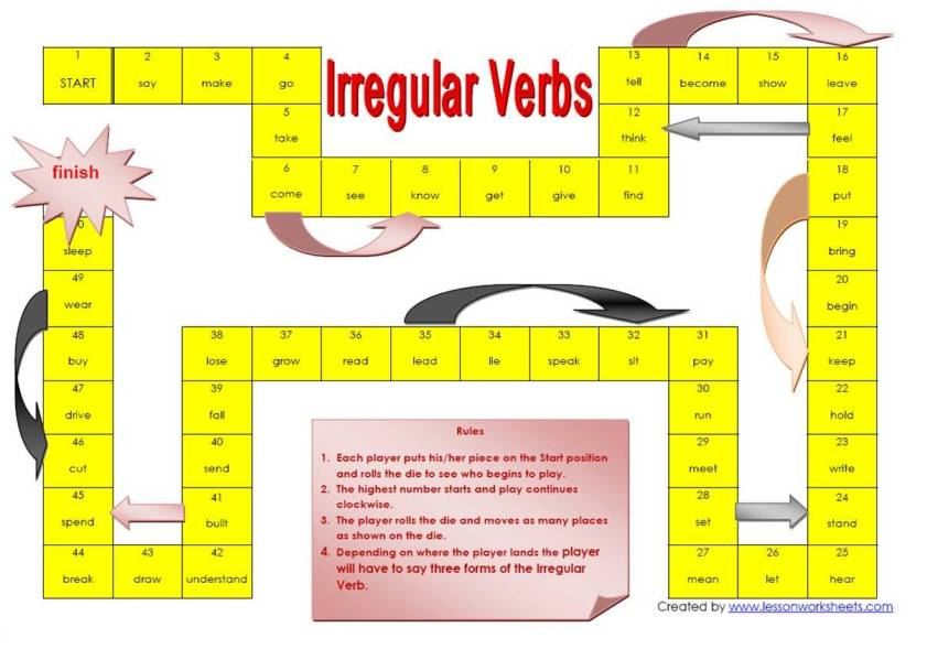 Irregular Verbs Game